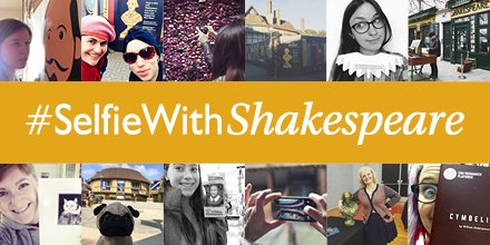 This year we're celebrating Shakespeare's 400th anniversary, share your #selfiewithshakespeare with us. https://t.co/9MhQWCSull