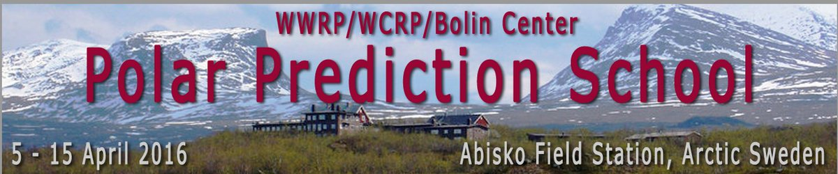 After a long night on train, we are finally here. Polar Prediction School 5-15 April 2016.  #pps2016 #Abisko https://t.co/tEwE54U0ex