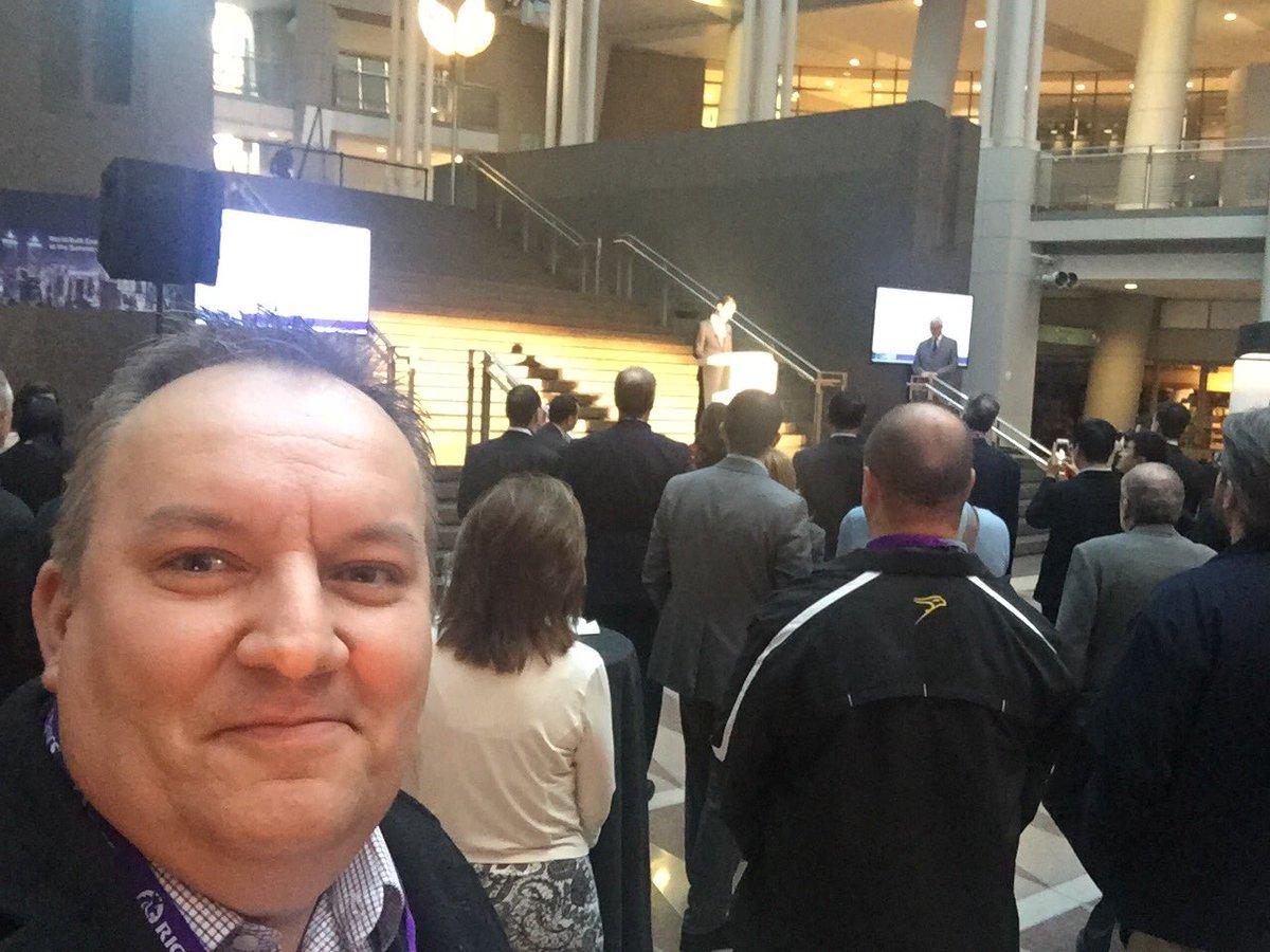 #WBEF #RICSsota opening reception @MartinJBruehl @JohnHughesTO Et al #ricsapc interesting chats with sponsors too https://t.co/Vpt71Mj1yn