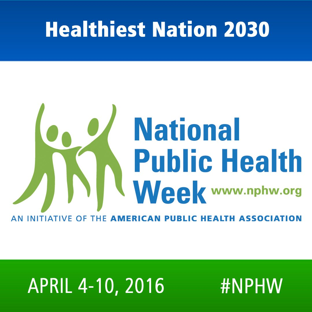 It's National Public Health Week! Join us as we work to create the healthiest nation! https://t.co/PhOOySuRQm #NPHW https://t.co/zaC3Nf2RR6