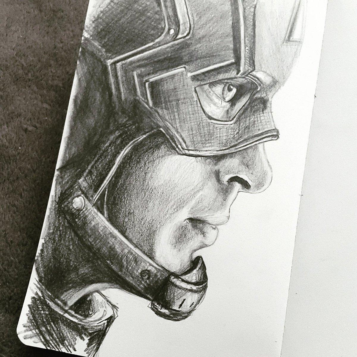 Cbeltrá on twitter pencil drawing on moleskine sketchbook of chris