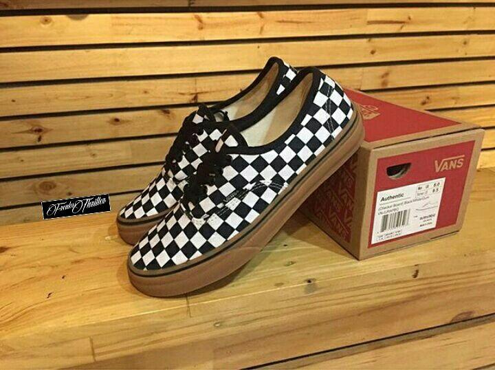 checkered vans gum sole Limit discounts