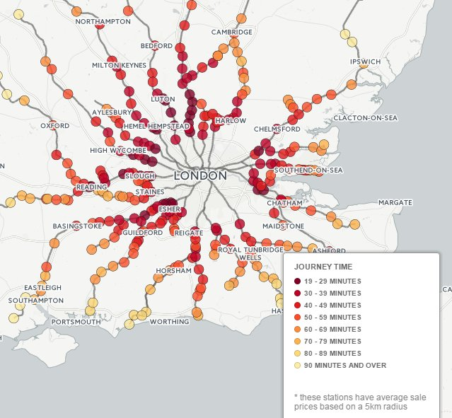 Commuters save £3k on property per minute of journey time from London – new interactive map: https://t.co/CrpdAzvwOy https://t.co/w8syQJW0j1