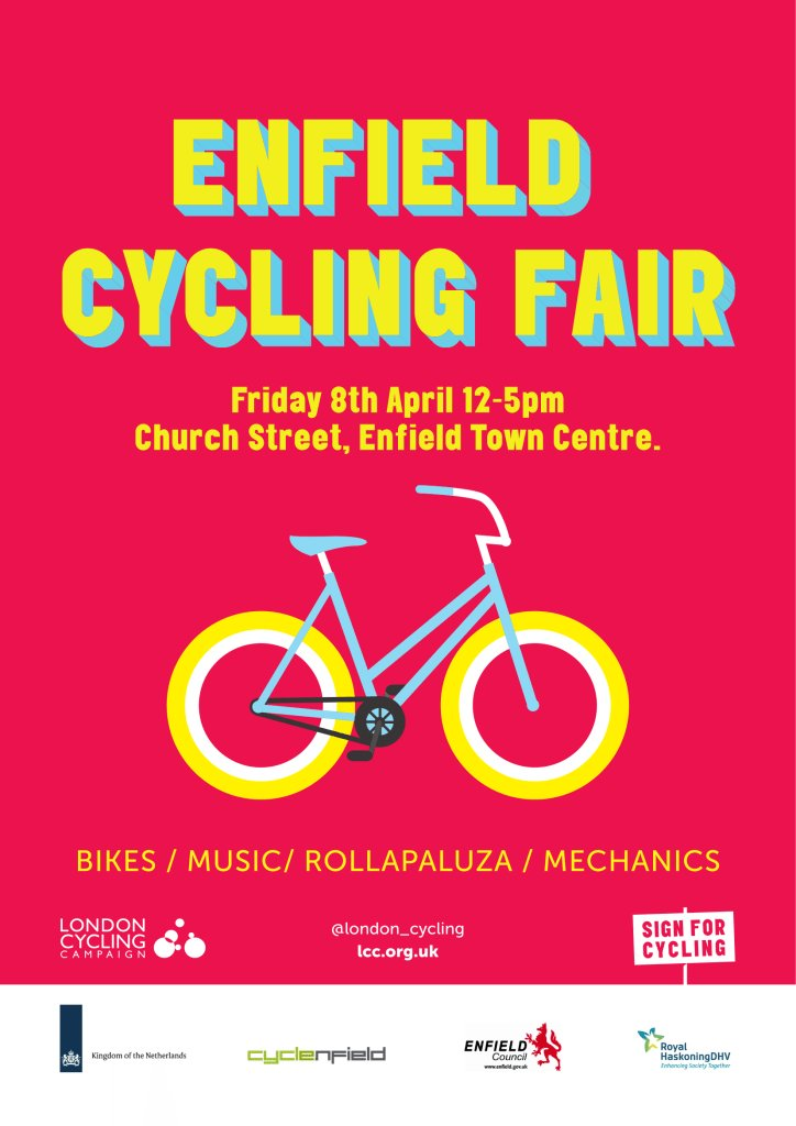 #rollapaluzaracing @london_cycling #Enfield #cyclingfair 8th April https://t.co/2WEabjHEGg