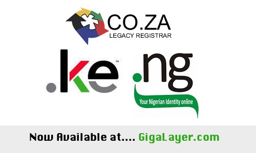 Get your .ng, .co.ke & .co.za domain today, instant registration w/ full management tools at https://t.co/ZbQU6p5g3W https://t.co/D6UGVNgQgz