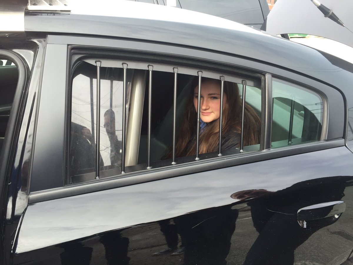LRTC On Twitter Hailey Testing Out The Back Seat Of Police Car Law Enforcement Students Got An Insiders Tour LPD This AM Tco GoOyqWHWhd