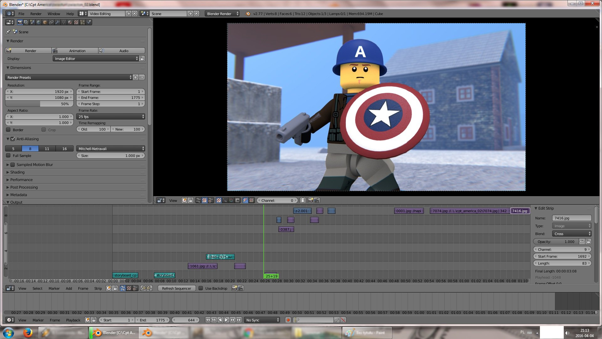 I'm making Capt. America trailer!