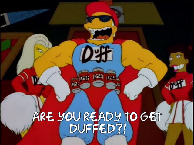 Image result for are you ready to get duffed