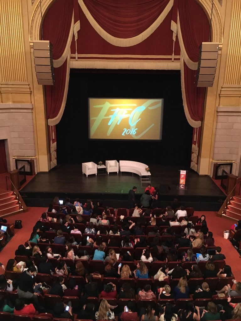 The auditorium where the 2016 Female Founders Conference was held.