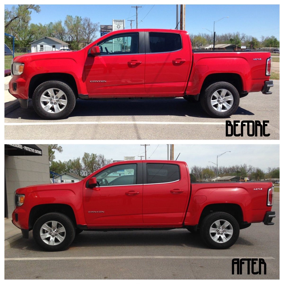 """2017 F150 Leveling Kit >> Line-X of Chickasha on Twitter: """"Installed a leveling kit on a 2016 GMC Canyon. # ..."""