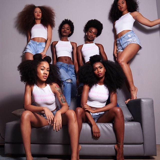Natural Hair Black Family Group Photo