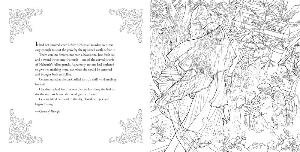 CATWOMAN On Twitter Here Are Some Insanely Gorgeous Spoiler Y Pages From The THRONE OF GLASS Coloring Book I AM IN LOOOVE SJMaas