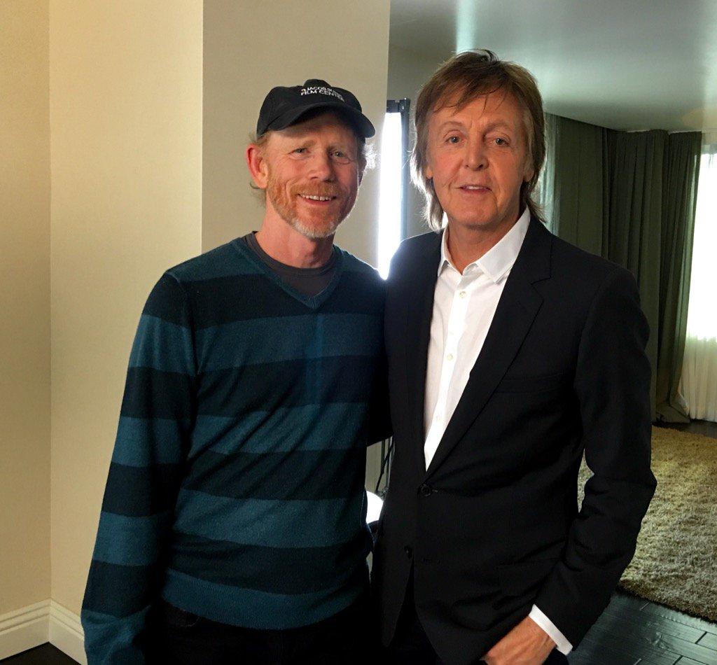 """The Beatles Polska: Ron Howard przeprowadził wywiad z Paulem McCartneyem na potrzeby """"The Beatles Live!"""""""