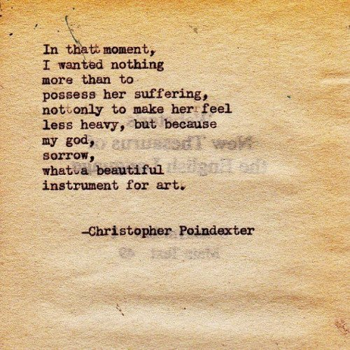 Christopher Poindexter Poems 1