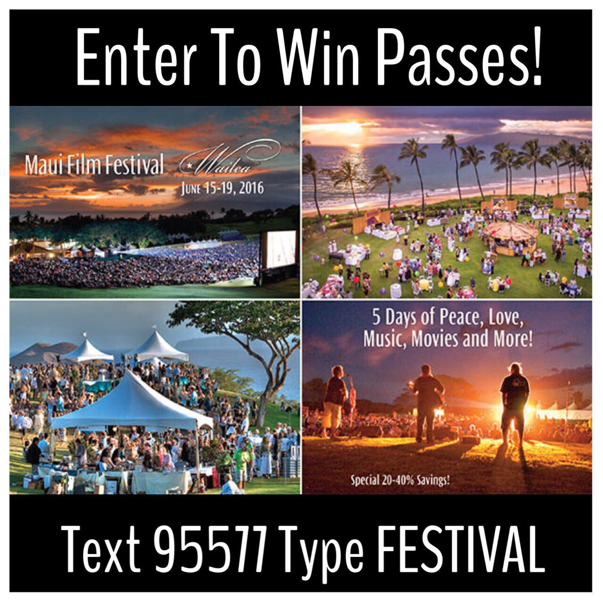 Enter for a chance to win Passes! @mauifilmfest  Standard Txt rates may apply! #mauifilm #mffsc #hawaii #maui https://t.co/2TXiZr5QNJ