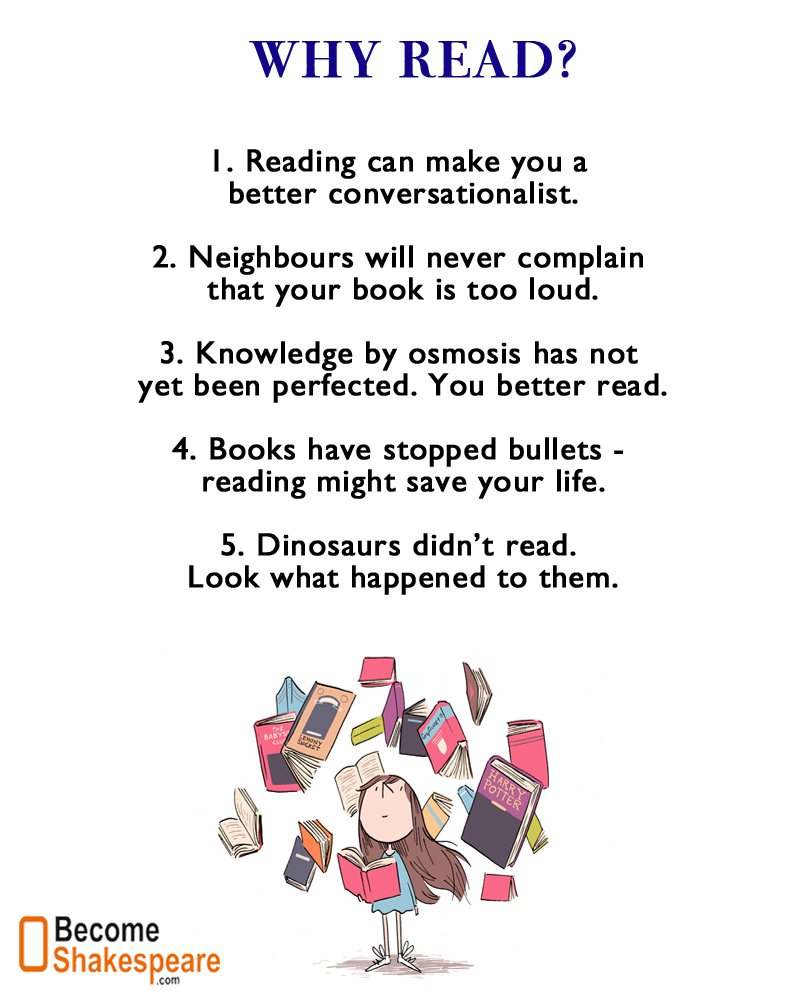 Benefits of reading a lot of books