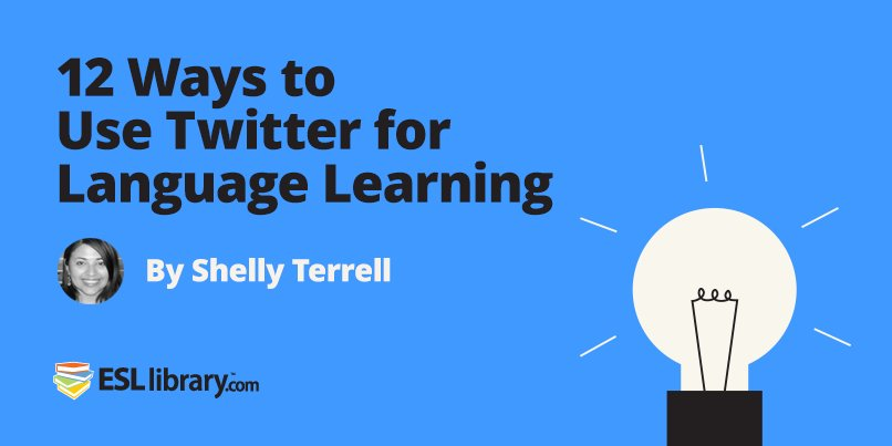 12 Ways to Use Twitter with Language Learners by @ShellTerrell https://t.co/yR2GBrybVf #ELT https://t.co/TAc0JkYrE4
