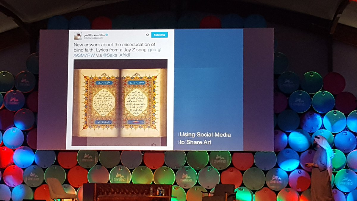 Brilliant example of using art to disrupt cultural stereotypes #STEP2016 #middleeast @SultanAlQassemi https://t.co/ptck59y093
