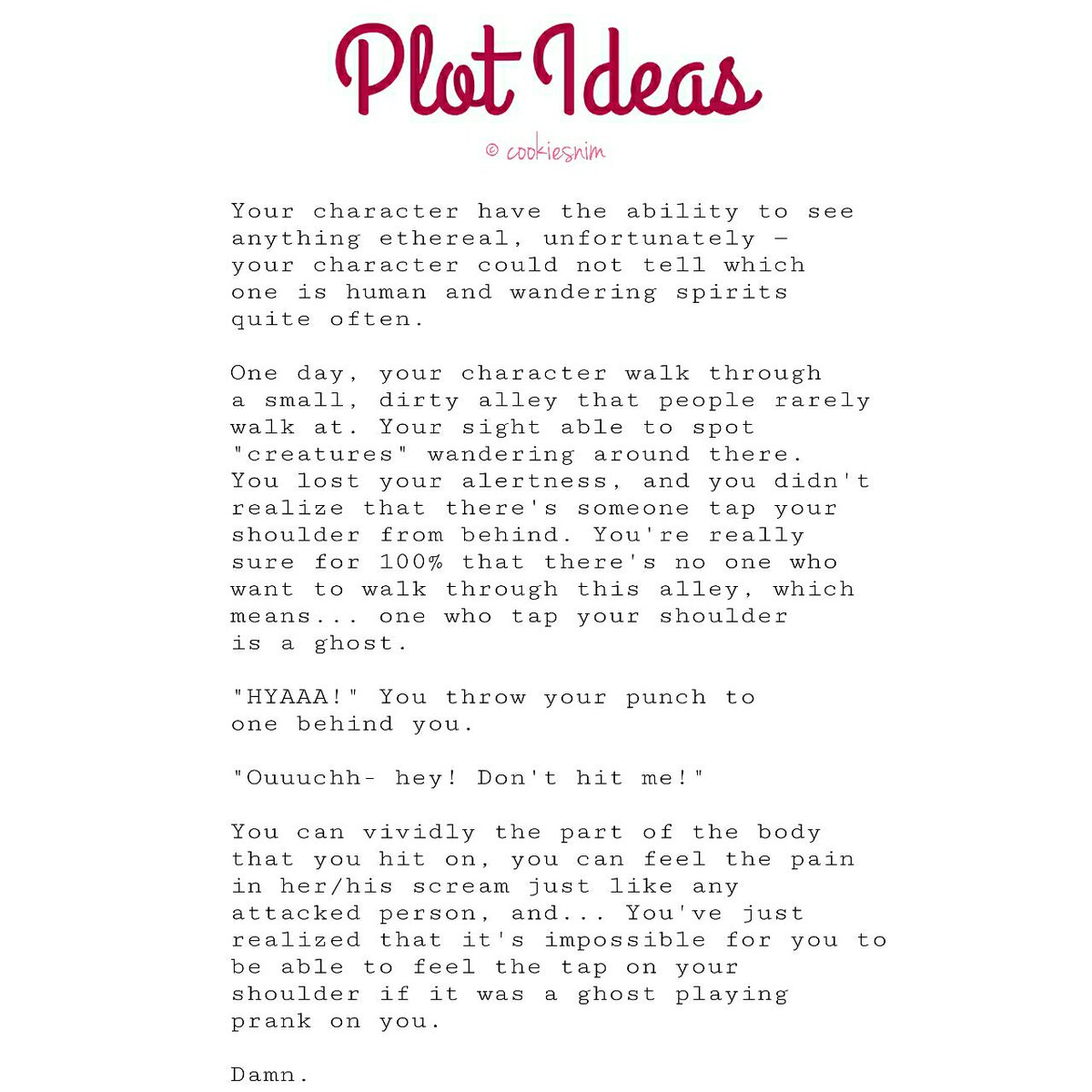 Plot Ideas. on Twitter