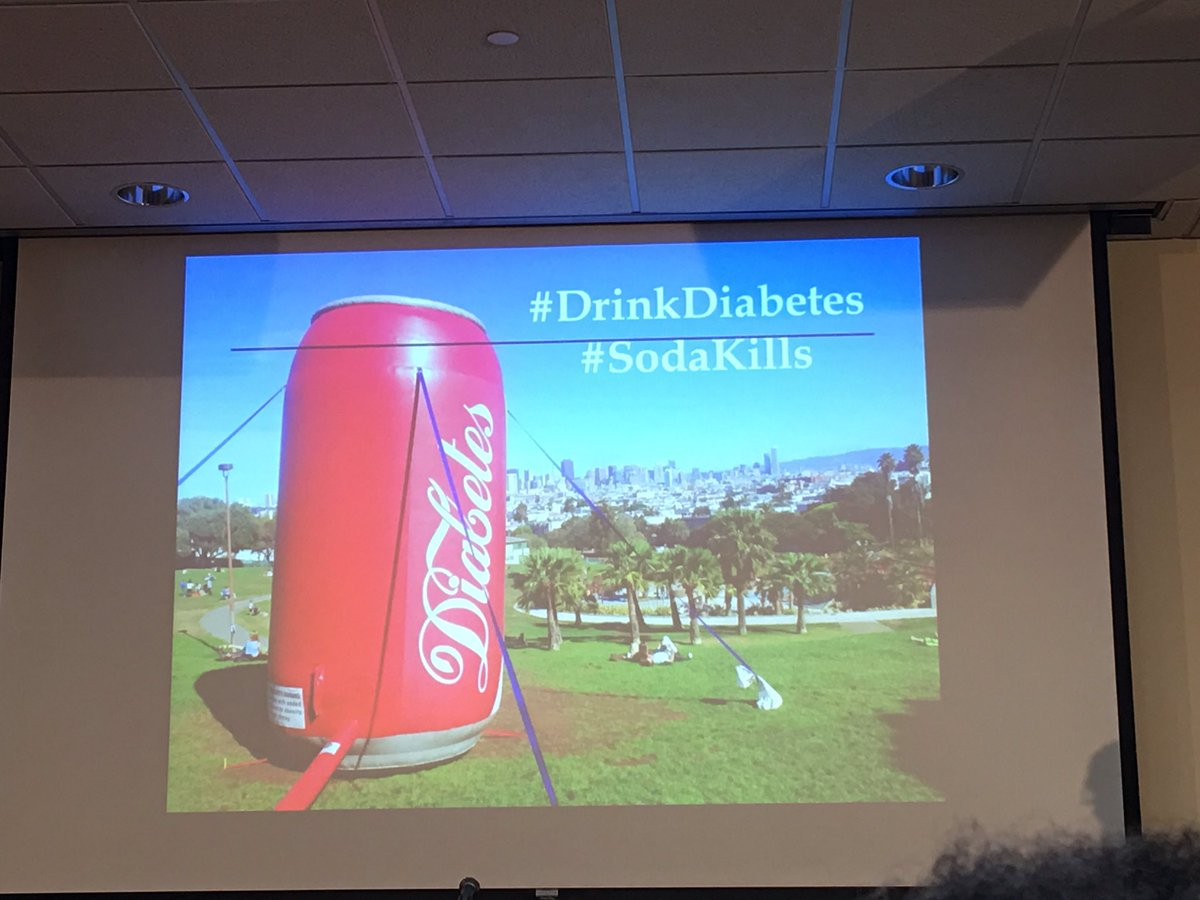 "Canzilla says ""enjoy diabetes"" @BigPicCampaign #publichealthMD #sodakills #nphw https://t.co/E6QIsSUo5k"