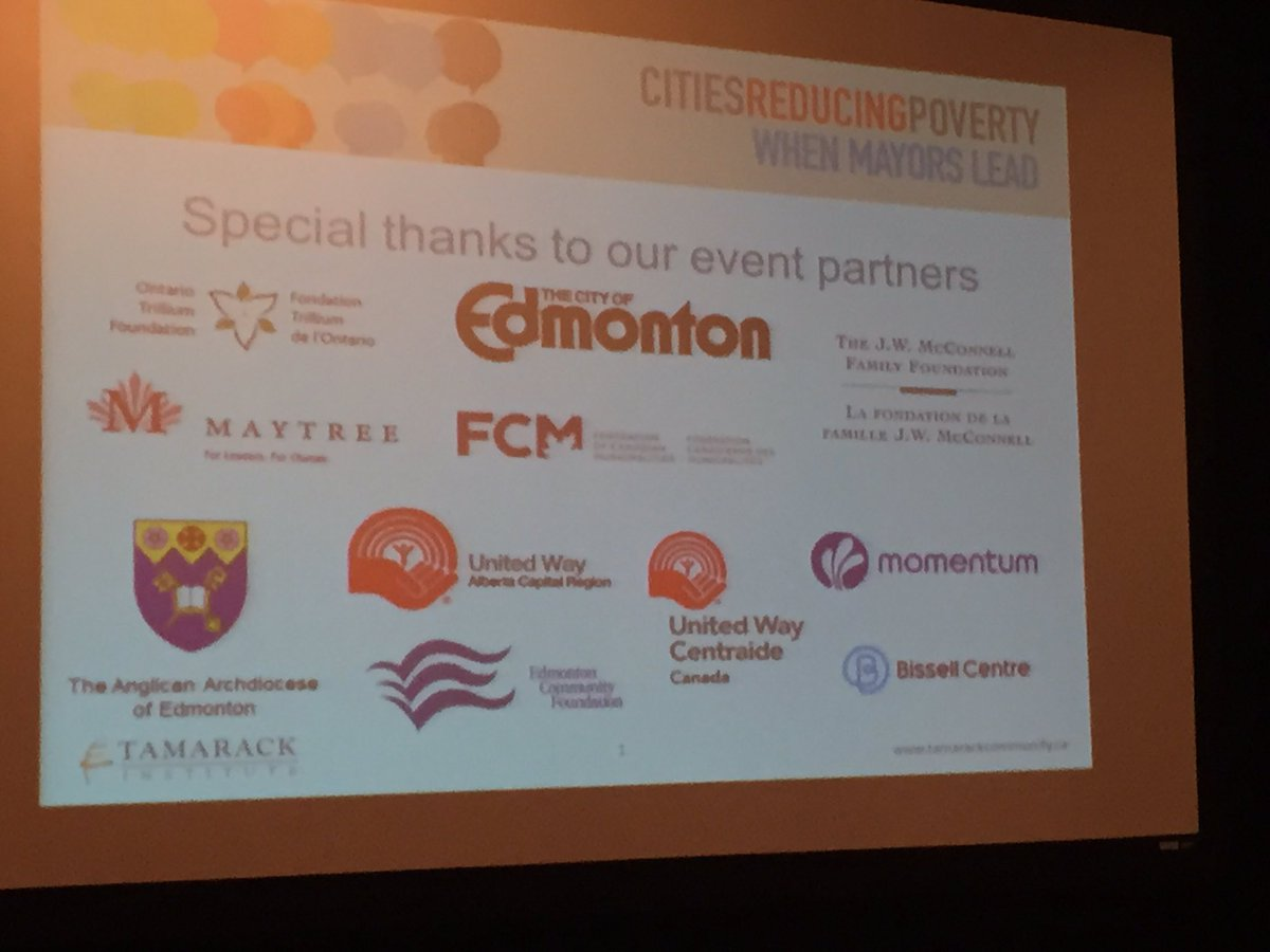 Getting ready for a full day of learning at the Cities Reducing Poverty Summit in Edmonton. #MayorsPovertySummit https://t.co/EjPpYiuHLO