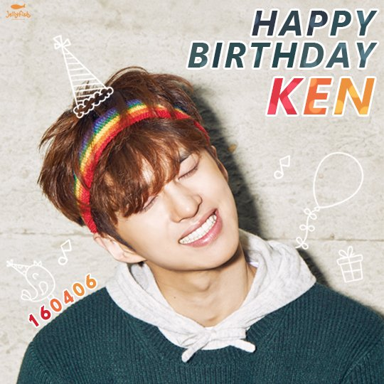 [#켄] 160406 #빅스 켄님의 생일을 진심으로 축하합니다! HAPPY BIRTHDAY TO #KEN https://t.co/rgirKBzlGy