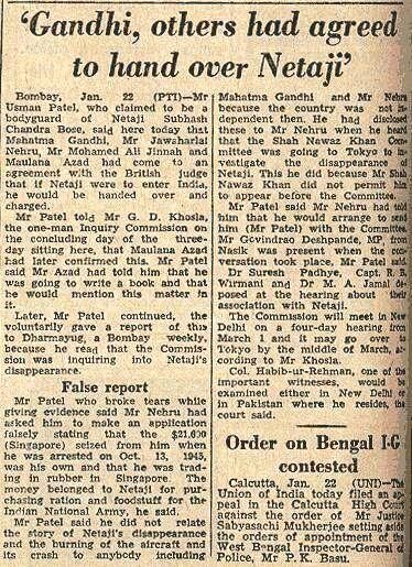 Image result for gandhi and nehru agreed to hand over bose