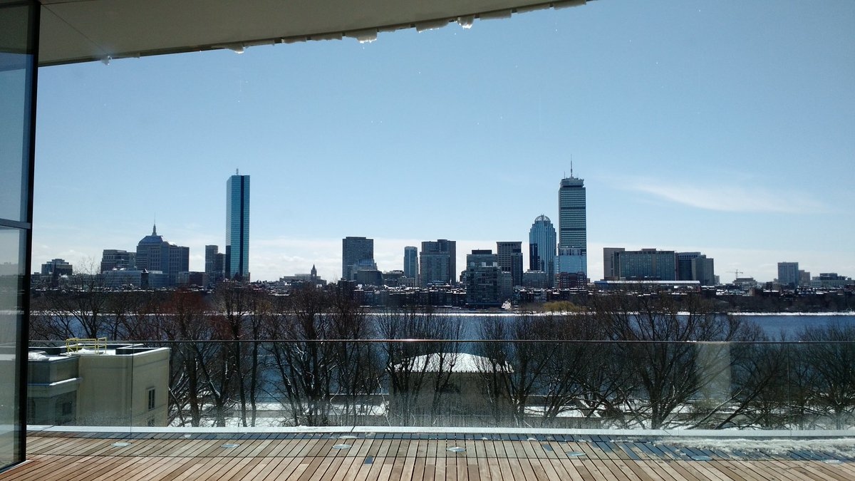 View of Boston skyline from the MIT's #ConnectedThings2016 conference. https://t.co/1fqbuU2dLv