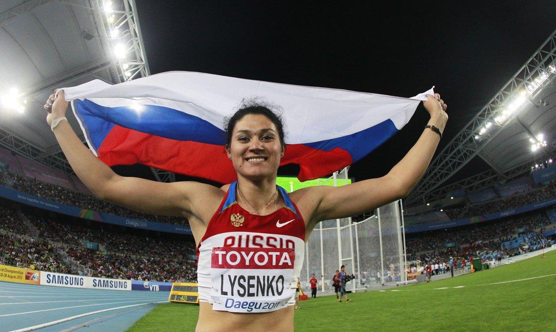 La championne olympique russe du marteau Tatyana Lysenko suspendue pour dopage  https://t.co/fXUBSBDFu3