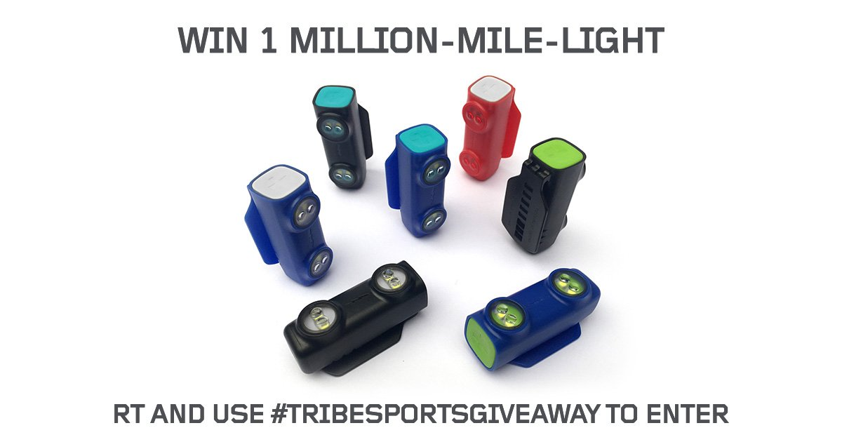 Competition time! We're giving away a free 1 Million Mile Light! RT & use #TribesportsGiveaway to enter! #Running https://t.co/lczgmFRLAP
