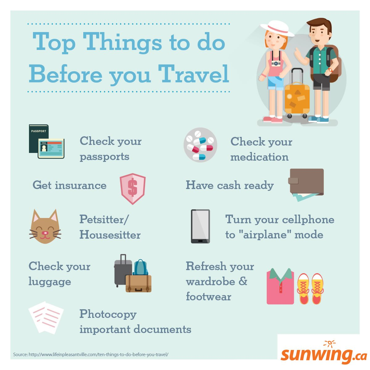 Checklist of travel to-do's to help you plan your next trip! #Infographic #TravelTuesday https://t.co/oDEsgzDP1k