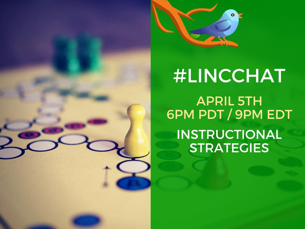 "It is #LINCchat day! ""Instructional Strategies"" 6p PDT / 9p EDT #cdnELT https://t.co/ncnwhJhDPW"