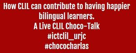 "Nueva Tertulia a realizar en #chococharlas ""A Live CLIL Choco-Talk"" https://t.co/Bx5ifoZcBY https://t.co/zvjNmz3Lvd"