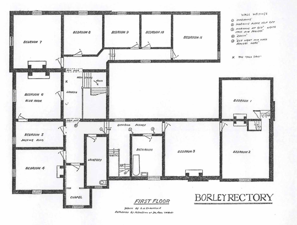 Leighton Barrable On Twitter 1st Floor And Ground Floor Plans Of Borley Rectory Drawn By Sidney Glanville In 1938 Https T Co Qj47dqx7yg