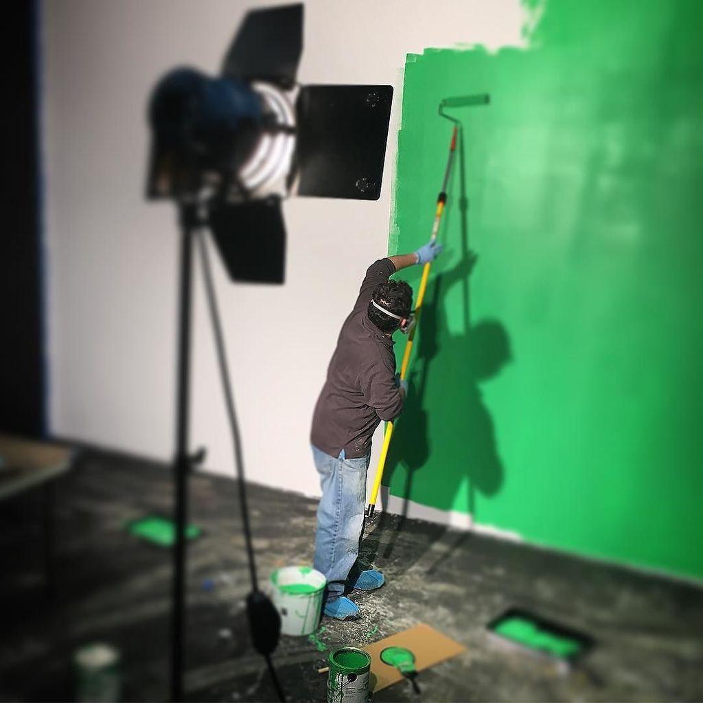 #greenscreen #studio final preparation.