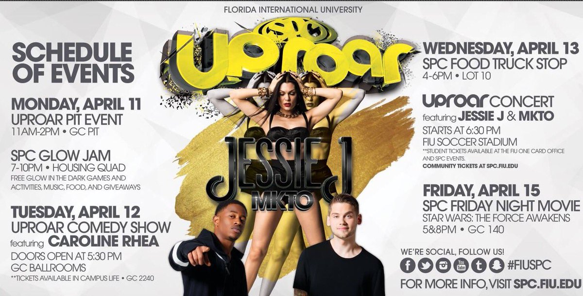 UPROAR week is almost here! Pick up your FREE student tickets NOW! https://t.co/ZvnDhOxYvP
