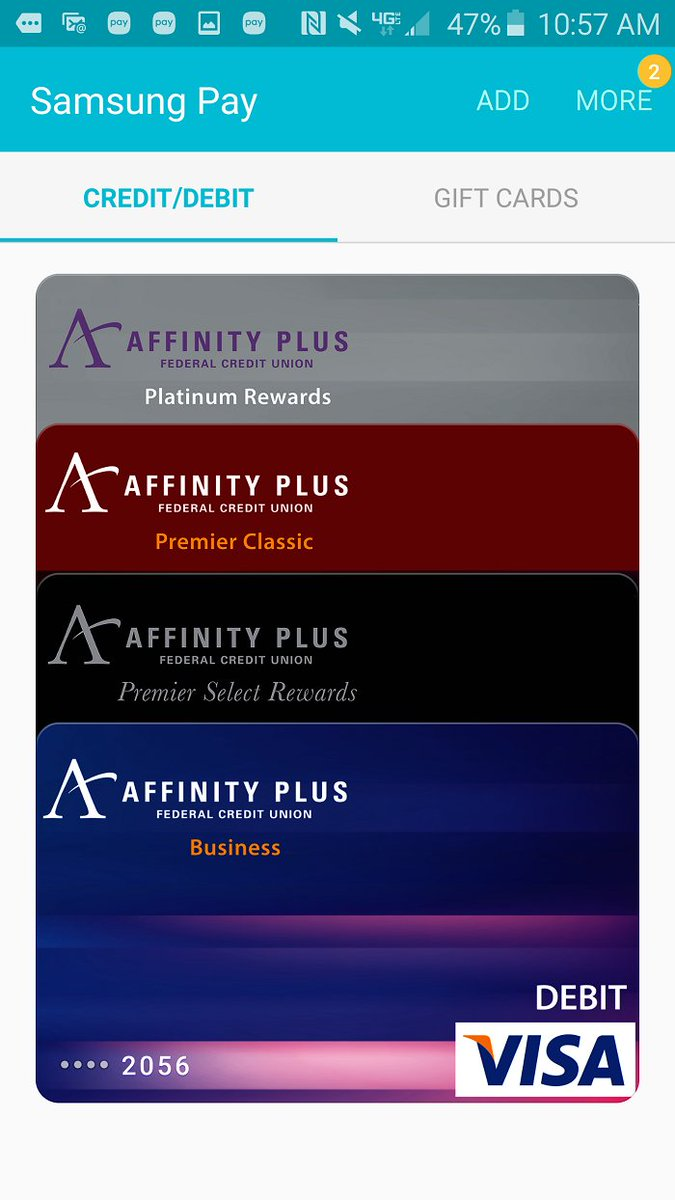 Affinity Plus On Twitter Have You Used Your Affinity Plus Debit Or Credit Card With Samsung Or Android Pay Https T Co Dfcdvw2u1h Https T Co Hl4rbtyqdv