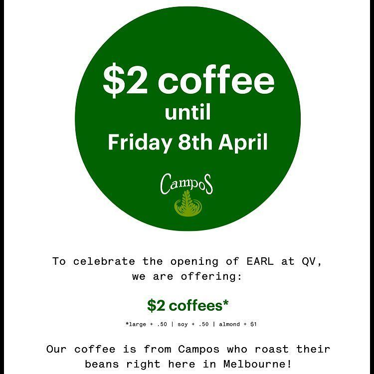 To celebrate our @qvmelbourne store opening today, we're doing $2 coffee until Friday at t… https://t.co/RjZu0aUqZL https://t.co/2c0vQHIo3h