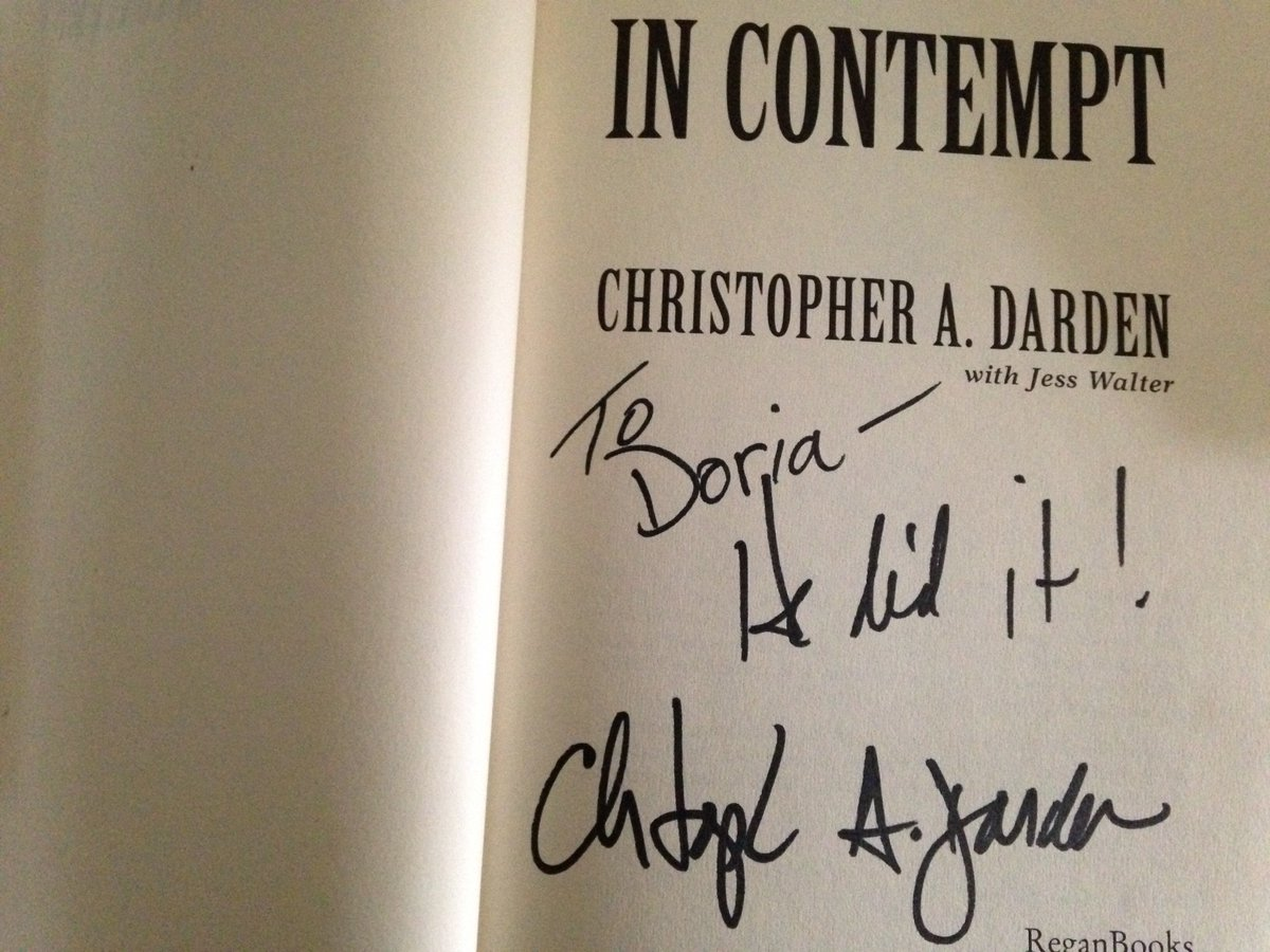 I went to a Chris Darden book signing in '96. He beamed when he heard what I wanted him to write. #PeoplevsOJSimpson https://t.co/KirMkuyf3Y