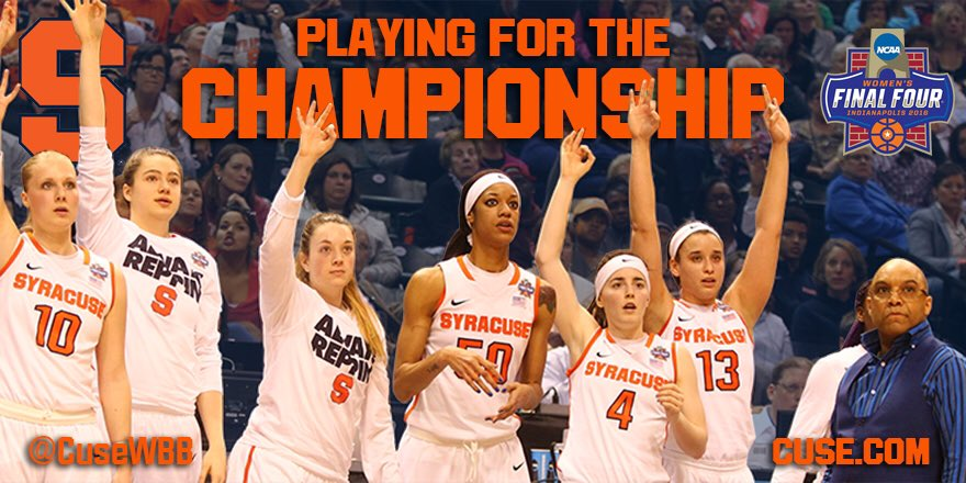 One. More. WIN. Good luck to @CuseWBB in the #NationalChampionship 🍊 https://t.co/r4MdNdhFhZ #IBleedOrange https://t.co/p1w9dGT47B