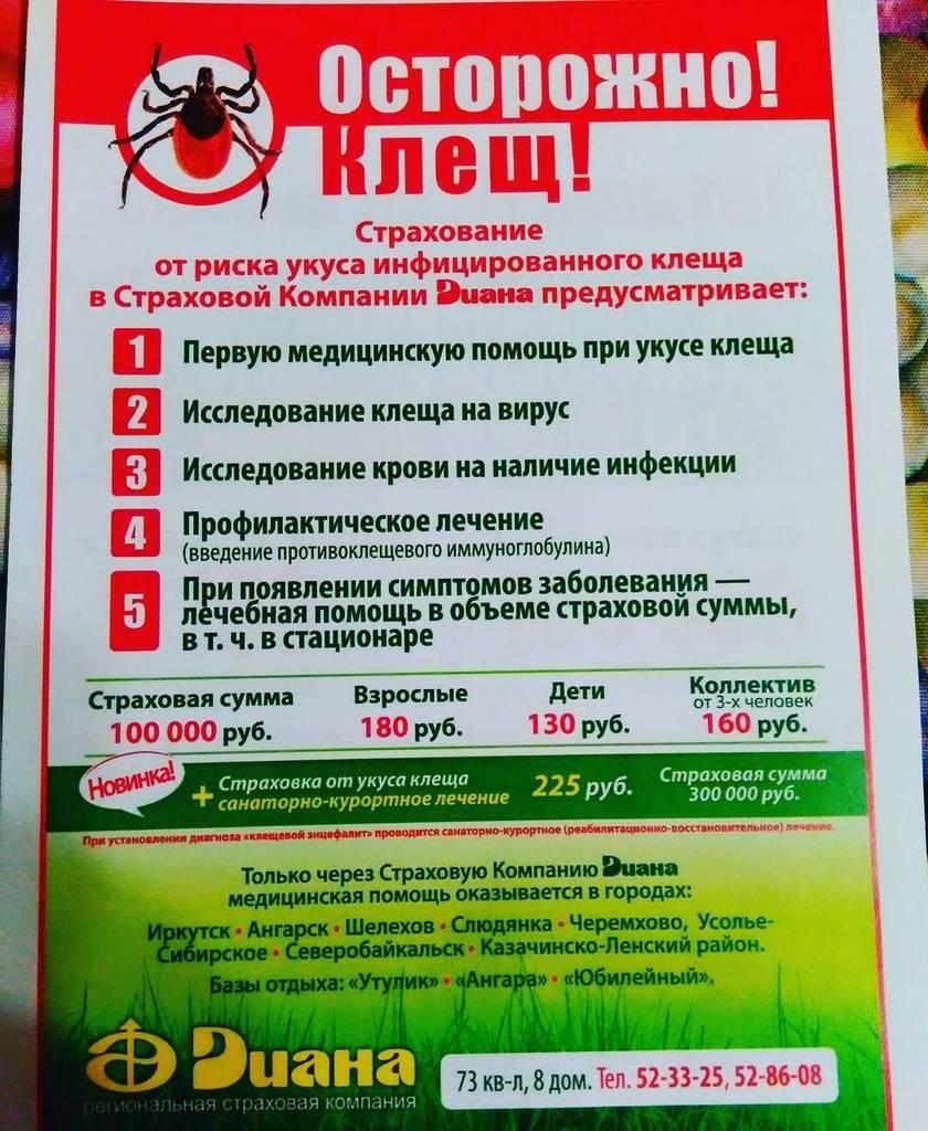 карты может застраховаться от укуса клеща в новосибирске собрали для вас