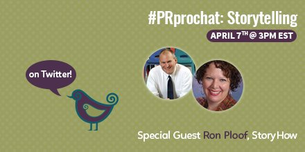 Are you ready to talk storytelling? #PRprochat this Thurs!! #pr #digitalpr #contentmarketing https://t.co/kQEmTssWC7