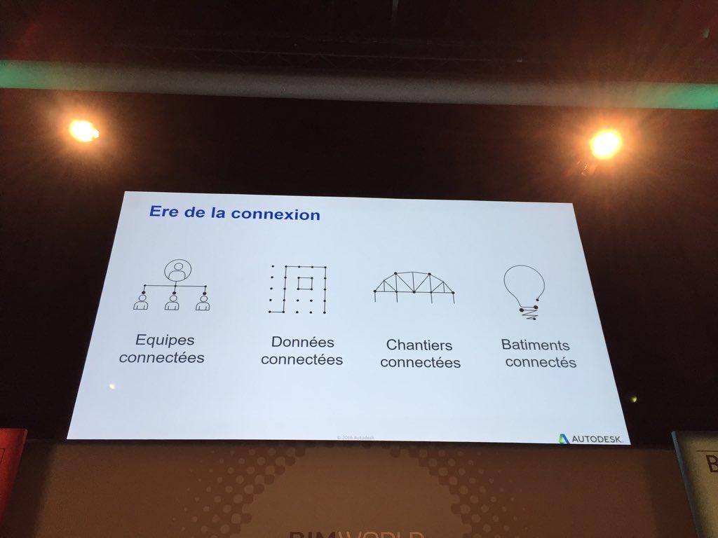 #BIMWorld - l'ère du tout connecte chez Autodesk dans le monde du bâtiment - en image #BIM https://t.co/wzn7tqKpdw