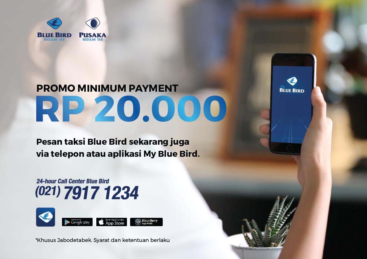 Bluebird Group u0432 Twitter Ada Meeting Di Thamrin Dekat Sih Tapi Macet Order Blue Bird Lewat Tlp Apps Aja Min Paymentnya Cuma 20rb Https T Co 4nc6ggqwiv