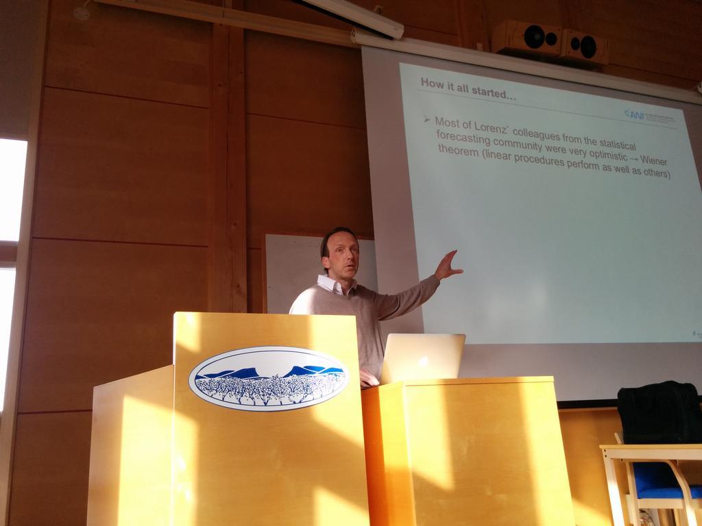 Thomas Jung @polarprediction on the contribution of Lorenz to weather prediction #pps2016 #Abisko https://t.co/J4ca5KNkFV