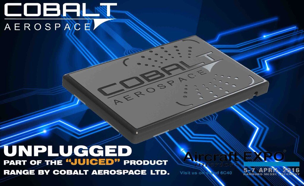 Cobalt aerospace on twitter our wireless charging unplugged is going down a storm come see us at stand 6c40 to see why
