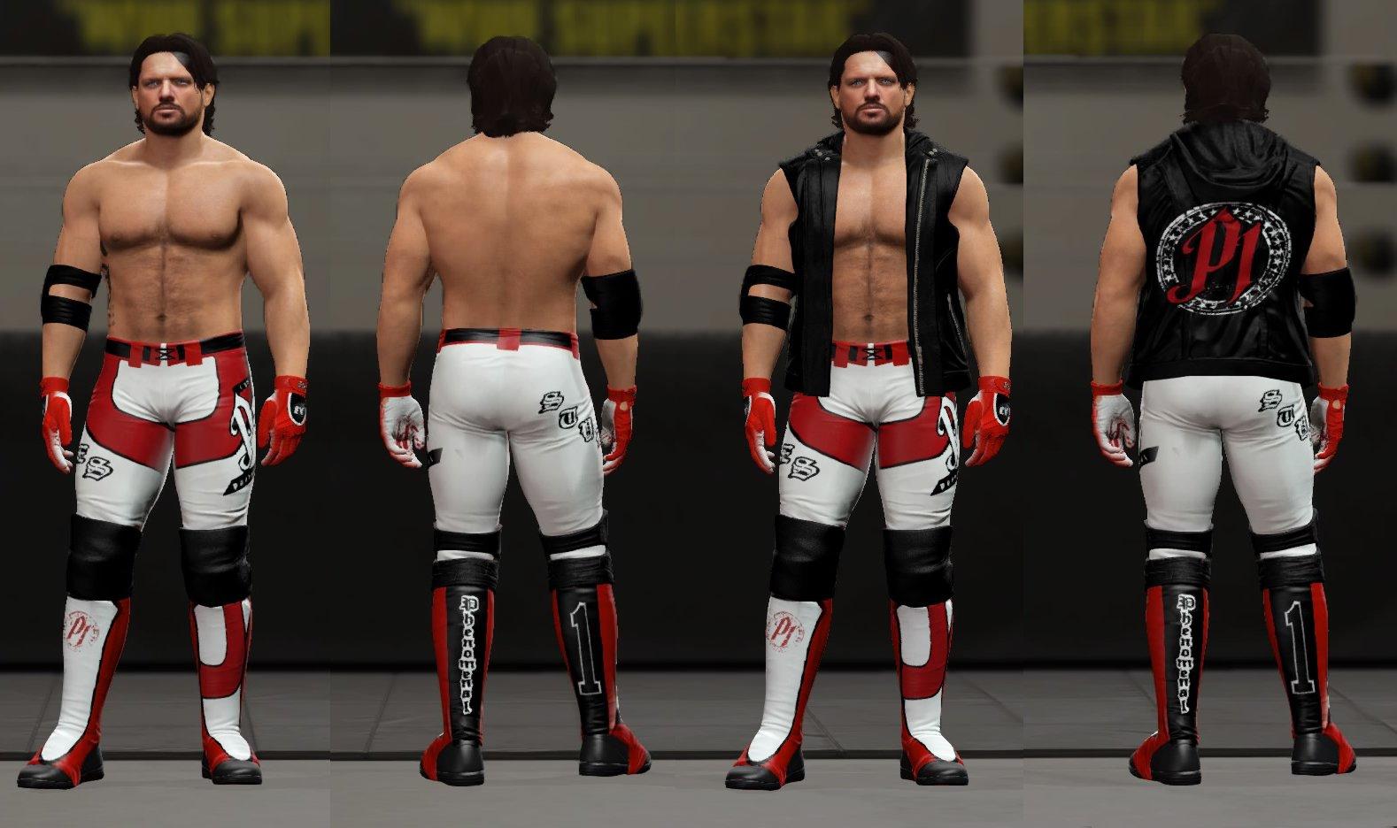 aj styles CAW for WWE ...