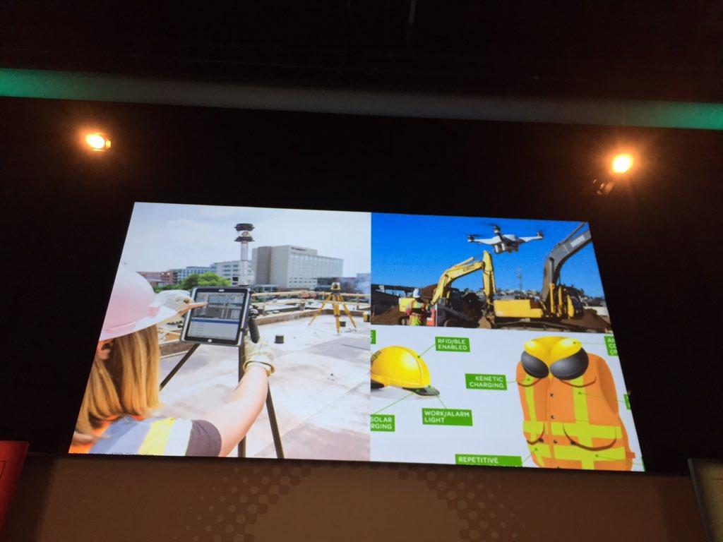 """#BIMWorld """"les drones sont beaucoup utilisés en phase de #construction pour voir l'avancement du chantier"""" https://t.co/xjKWqmeRCP"""