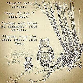 Image result for pooh and piglet darmok