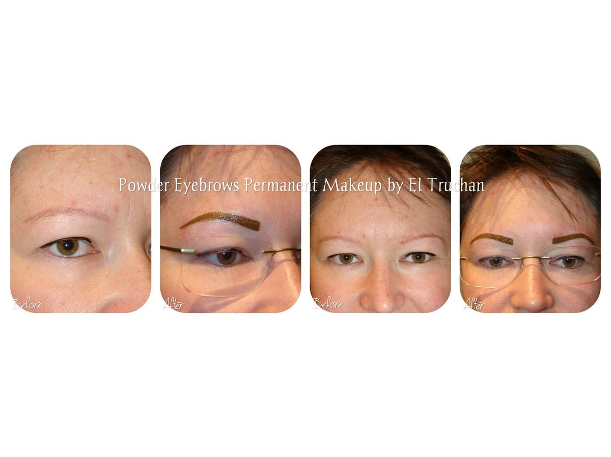 Powder Eyebrows before & after #eyebrows #powdereyebrows #semipermanentmakeup #london #microbladingpic.twitter.com/hP2Qt5WAoj